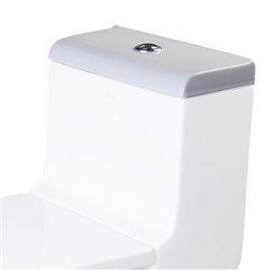 EAGO Replacement Toilet Tank Lid - 7.25-in - White Porcelain