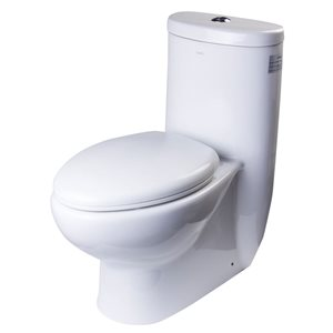 EAGO Oval Elongated Toilet - WaterSense Dual Flush - Standard Height - 14.5-in - White