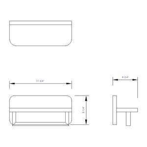 ALFI Brand Towel Bar - 12-in - Natural Wood