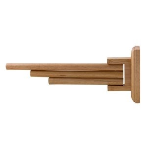 ALFI Brand Double Towel Bar - 16-in - Natural Wood