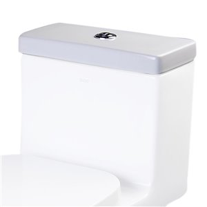 EAGO Replacement Toilet Tank Lid - 7-in x 2.25-in - White Porcelain