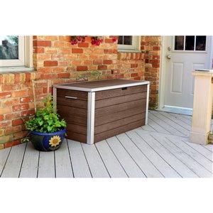 New England Arbors URBANA Deck Box - Expresso Brown