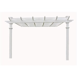 New England Arbors Freemont Attached Pergola - 12-ft x 12-ft