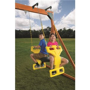Creative Cedar Designs Glider Swing - Green and Yellow