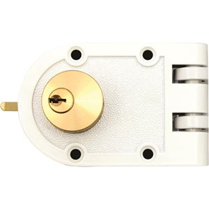 Forge Locks Latch Deadbolt - White