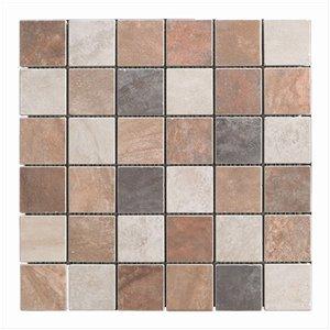 Mono Serra Porcelain Mosaic Tile - 13'' x 13'' -  Sandstone