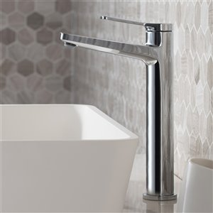 Kraus Indy Bathroom Sink Faucet - 1-Handle - 10.88-in - Chrome