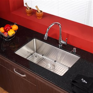 Kraus Premier Pull-Down Kitchen Faucet - Single Handle - Chrome