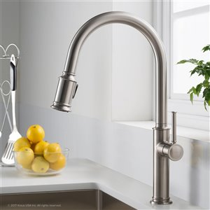 Kraus Sellette Pull-Down Kitchen Faucet - Single Handle - Stainless Steel