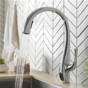 Kraus Ansel Pull-Down Kitchen Faucet - Dual Function - Single Handle - Chrome
