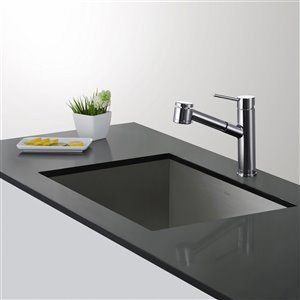 Kraus Oletto Pull-Out Kitchen Faucet - Single Handle - Chrome