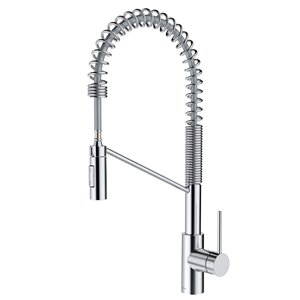 Kraus Oletto Pull-Down Kitchen Faucet - Single Handle - 22.25-in - Chrome