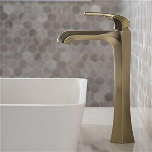 Kraus Esta Bathroom Sink Faucet - 1-Handle - 12-in - Brushed Gold