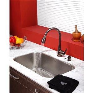 Kraus Premier Pull-Down Kitchen Faucet - Single Handle - Oil Rubbed Bronze