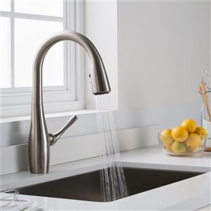 Kraus Esina Pull-Down Kitchen Faucet - Dual Function - Single Handle - Stainless Steel
