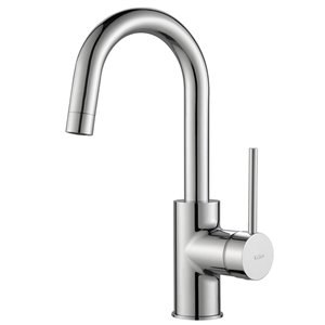 Kraus Oletto Bar and Kitchen Faucet - Single Handle - Chrome
