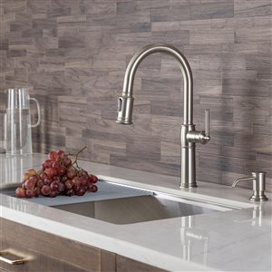 Kraus Sellette Pull-Down Kitchen Faucet - Single Handle - 16.5-in - Stainless Steel