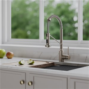 Kraus Bolden Pull-Down Kitchen Faucet - Single Handle - Stainless Steel