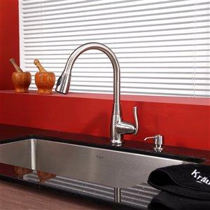 Kraus Premier Pull-Down Kitchen Faucet - Single Handle - Satin Nickel