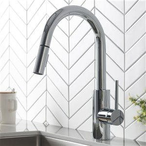 Kraus Oletto Pull-Down Kitchen Faucet - Dual Function - Single Handle - Chrome