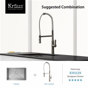 Kraus Nola Pull-Down Kitchen Faucet - Single Handle - Stainless Steel