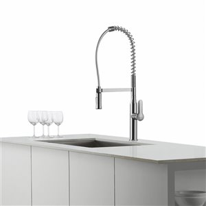 Kraus Nola Pull-Down Kitchen Faucet - Single Handle - Chrome