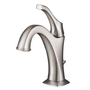Kraus Arlo Bathroom Sink Faucet - 1-Handle - 8-in - Brushed Nickel