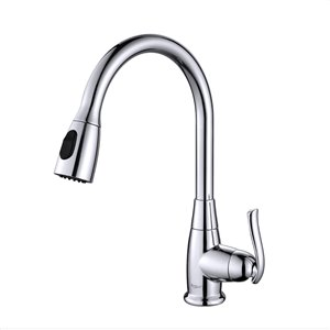 Kraus Premier Pull-Down Kitchen Faucet - Single Handle - 15.25-in - Chrome