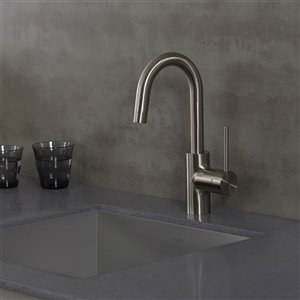Kraus Oletto Bar and Kitchen Faucet - Single Handle - Stainless Steel