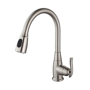 Kraus Premier Pull-Down Kitchen Faucet - Single Handle - 15.25-in - Satin Nickel