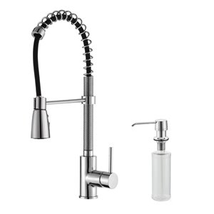 Kraus Premier Pull-Down Kitchen Faucet - Single Handle - 21.25-in - Chrome