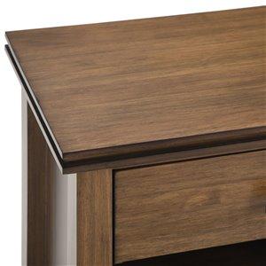 SIMPLI HOME Artisan Bedside Table - 1 Drawer - Brown - 15-in x 24-in