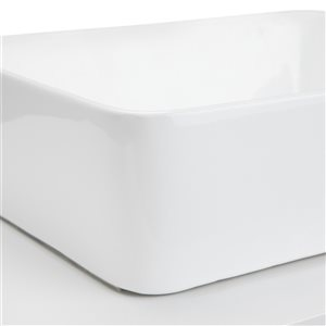 SIMPLI HOME Patton Bath Vanity with White Engineered Quartz Marble Top - 42-in