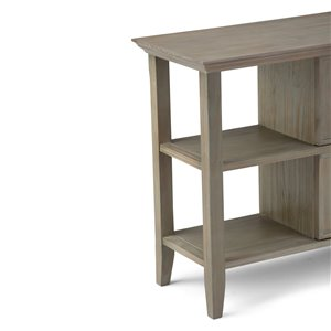SIMPLI HOME Acadian Console Sofa Table 2-Drawers - Grey - 16-in x 47.5-in
