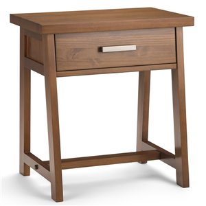 SIMPLI HOME Sawhorse Bedside Table - 1 Drawer - Brown - 16-in x 24-in