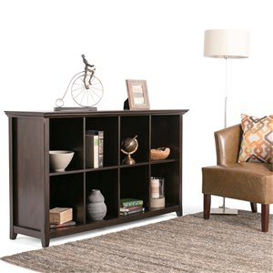 SIMPLI HOME Amherst 8 Cube Storage Sofa Table - Brown - 15.75-in x 57-in
