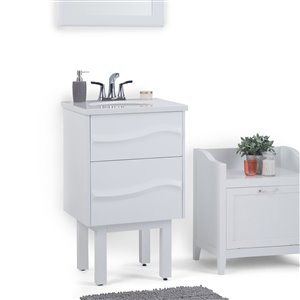 SIMPLI HOME Marlowe 20 inch Bath Vanity with Light Grey ...