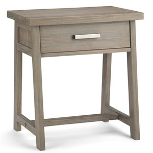 SIMPLI HOME Sawhorse Bedside Table - 1 Drawer - Grey - 16-in x 24-in