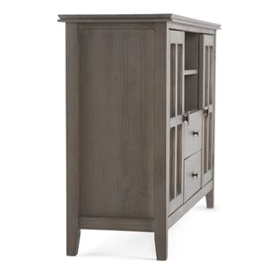 SIMPLI HOME Artisan Tall TV Media Stand - Distressed Grey - 53-in