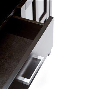 SIMPLI HOME Kitchener Tall TV Media Stand - Dark Walnut Brown - 53-in
