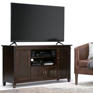 SIMPLI HOME Carlton TV Media Stand - Dark Tobacco Brown - 54-in