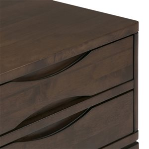 SIMPLI HOME Harper Hallway Console Table 4-Drawers- Brown - 15-in x 40-in