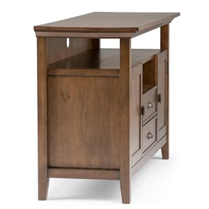 SIMPLI HOME Redmond Tall TV Media Stand - Rustic Natural Aged Brown - 54-in
