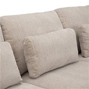 SIMPLI HOME Contemporary Petra Sectional - Grey