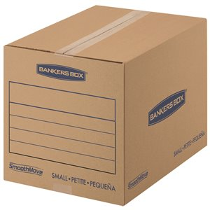 Fellowes Canada SmoothMove Small Moving Boxes - 15 Pack