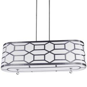 Dainolite Pembroke Pendant Light - 4-Light - 34-in x 10-in - Silver