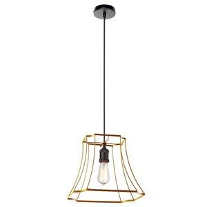 Dainolite Belenko Pendant Light - 1-Light - 14.5-in x 11.75-in - Gold