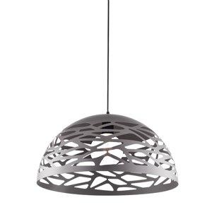 Dainolite Coral Pendant Light - 1-Light - 16-in x 8.75-in - Silver