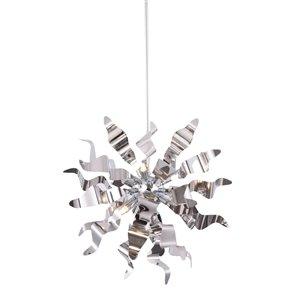 Dainolite Miramar Pendant Light - 6-Light - 20-in x 20-in - Polished Chrome