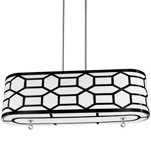 Dainolite Pembroke Pendant Light - 4-Light - 34-in x 10-in - Black